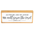 Joshua 24:15 As For Me and My House Wall Decor, MDF, White, 9 1/2 x 3 3/4 x 1 1/4 inches