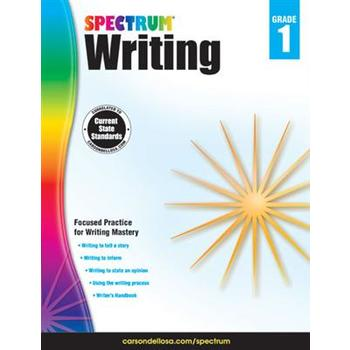 Carson-Dellosa, Spectrum Writing Workbook Grade 1, Paperback, 112 Pages, Ages 6-7