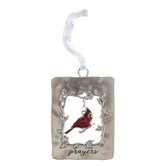 Ganz, You Are In My Prayers Cardinal Ornament, Metal, Red & Silver, 2 x 3 inches