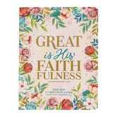 Renewing Faith, Great Is His Faithfulness 17-Month 2021 Monthly Planner, Softcover, Floral, 7 1/2 x 9 3/4 inches