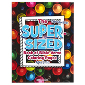 Rose Publishing, The Super-Sized Book of Bible Verse Coloring Pages, Paperback, Reproducible, 11 x 8 Inches, 256 Pages