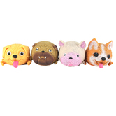 Toysmith, Skwishy Pets Dogs, 4 1/2 inches