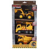 Sunny Days, Maxx Action Construction Series Vehicles, 1 Each of 3 Vehicles, Ages 3 and Older