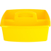 Storex, Large Caddy, Yellow, 2 Compartments, Plastic, 13 x 11 x 6.38 Inches, 1 Piece