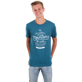 NOTW, Isaiah 55:12 The Mountains Are Calling, Men's Short Sleeve T-shirt, Peacock Blue, S-2XL