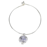 Bella Grace, Essential Oil Diffuser Wire Bracelet, Zinc Alloy & Iron, Silver