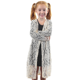 Southern Grace, Grace and Emma, Hannah's Lace Kimono, Kid's, Cream, Ages 4-10