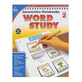 Carson-Dellosa, Interactive Notebooks Word Study Resource Book, Reproducible Paperback, Grade 2
