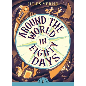 Around the World in Eighty Days, Puffin Classics Series, by Jules Verne, Paperback