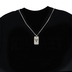 Dicksons, Isaiah 40:31 Justified Dog Tag, Men's Necklace, Stainless Steel, 24 inches