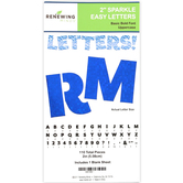 Renewing Minds, Blue Sparkle Bulletin Board Letters, Uppercase, 2 Inches, Blue, 110 Pieces