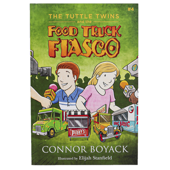 The Tuttle Twins and the Food Truck Fiasco, Book 4, Paperback, 58 Pages, Grades K-6