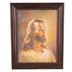 Warner Sallman Head of Christ Framed Canvas, MDF and Canvas, Bronze Frame, 14 x 11 x 3/4 inches