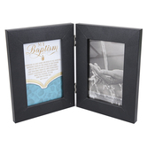 Dicksons, My Baptism Photo Frame, MDF, Black, Holds 2 Photos 4 x 6 inches, 7 3/4 x 11 1/2 inches
