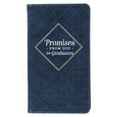 Christian Art Gifts, Promises from God for Graduates, Imitation Leather, Navy, 7 x 4 inches