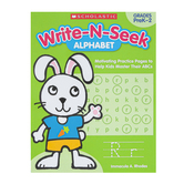Scholastic, Write N Seek Alphabet Activity Book, Paperback, 64 Pages, Grade PreK-2