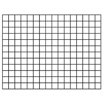 """Reusable Wipe-Off Graphing Grid, 1.5"""" Squares, 22 x 28 inches Chart"""