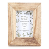Christian Brands, Matthew 25:23 Faithful Servant Tabletop Plaque, Wood, 7 x 9 x 1 1/2 inches