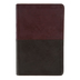 NLT Personal Size Large Print Bible, Duo-Tone, Brown and Tan, Thumb Indexed