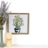 Designs Direct Creative Group, Ladyfinger Cactus Framed Art, MDF, 12 x 12 x 5/8 inches