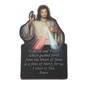 Nelson Fine Art & Gifts, Image of Divine Mercy Shaped Visor Clip, 3 3/4 x 2 inches
