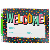 Renewing Minds, Customizable Welcome Chart, Confetti, 22 x 17 Inches, Multi-Colored