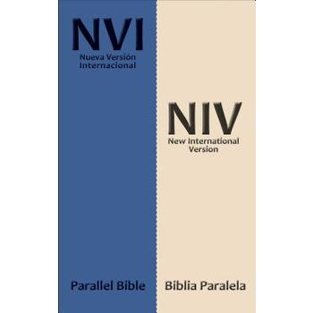 NVI NIV Spanish-English Parallel Bilingual Bible, Imitation Leather, Blue and Cream