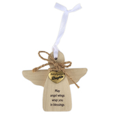 Abbey and CA Gift, For A Special Daughter Angel Ornament, MDF, 3 3/4 inches
