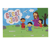 Renewing Minds, Christian Great Job! Certificates, 8.5 x 5.5 Inches, Multi-Colored, Pack of 30
