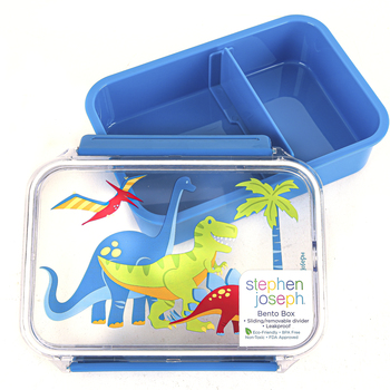 Stephen Joseph, Dinosaur Bento Box, Plastic, 7 x 5 x 2 inches