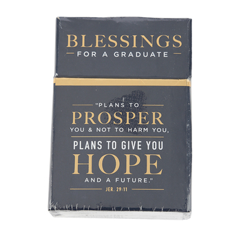 Christian Art Gifts, Jeremiah 29:11 Box of Blessings, 51 Pieces, 2 1/2 x 1 x 3 3/4 inches