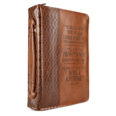 Christian Art, Jeremiah 29:11 Bible Cover, Lux-Leather, Brown, Multiple Sizes Available