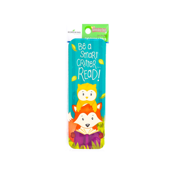 Woodland Tails Collection,  Be a Smart Critter...READ! Bookmarks, 2 x 6 Inches, Multi-Colored, Pack of 36