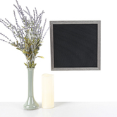 DCWV, Black Letterboard with 188 Characters, Wood, Gray, 12 x 12 inches