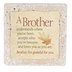 Product Concept Manufacturing, Brother I'm Grateful For You Tabletop Tile, Resin, Stone, 4 x 4 x 1/2 inches