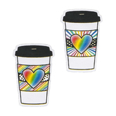 Schoolgirl Style, Industrial Cafe Rainbow To-Go Cups Colorful Cut-Outs, 3.7 x 5.6 Inches, 36 Pieces