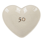 Demdaco, Meaningful Moments, 50th Anniversary Treasure Keeper, Stoneware, 4 x 3 1/2 inches
