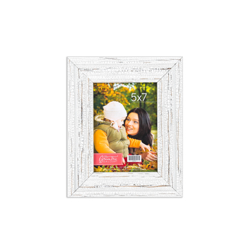 Crackle Finish Photo Frame, White, 5 x 7 inches