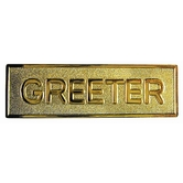 Gold Badge - Greeter (Pin Back)