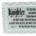 Dexsa, Daughter Glass Plaque, Glass, Grey, 6 x 4 Inches