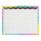 Renewing Minds, Rainbow Stripes Calendar Chart, Customizable, Multi-Colored, 22 x 28 Inches, 1 Each