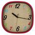 TooCute Collection, Decorative Wall Clock, Multi-Colored, Squarish, 11.50 Inch Diameter