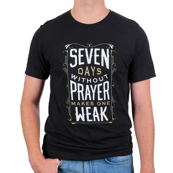 NOTW, Seven Days Without Prayer Makes One Weak, Men's Short Sleeve T-shirt, Black Heather, S-2XL