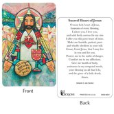 Dicksons, Sacred Heart of Jesus Pocket Card, 2 1/2 x 3 7/8 inches