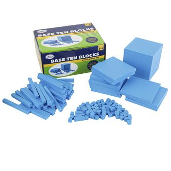 Base Ten Foam Blocks Kit, Small Group Set, Grades 1-5