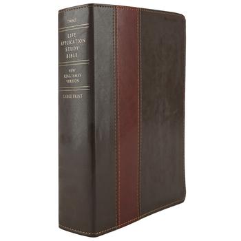 NKJV Life Application Study Bible, Large Print, Duo-Tone, Brown and Tan