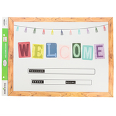 Farmhouse Lane Collection, Customizable Welcome Chart, 22 x 17 Inches, Multi-Colored
