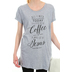NOTW, All I Need Today Is Coffee and Jesus, Women's Sleep Shirt, Heather Gray, Small