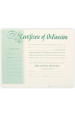 Broadman Church Supplies, Ordination Of Minister Certificates, 8 1/2 x 11 inches, Set of 6