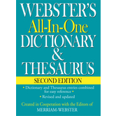 Websters All-In-One Dictionary and Thesaurus, Second Edition